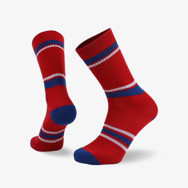 144N 红底蓝白条纹普通袜