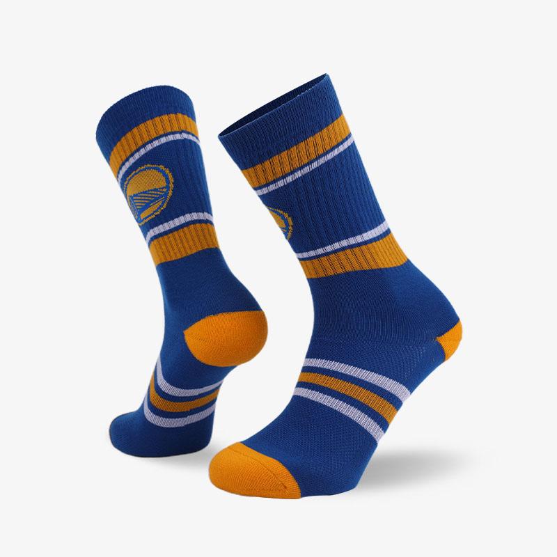 144N 蓝底黄条纹普通袜