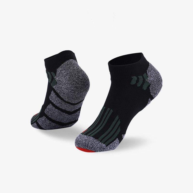 144N 黑灰运动短袜