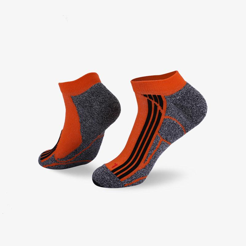 144N 灰橘运动短袜