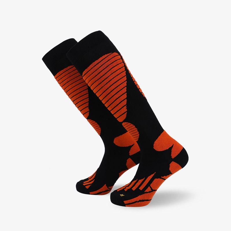 144N 长筒黑橘滑雪袜