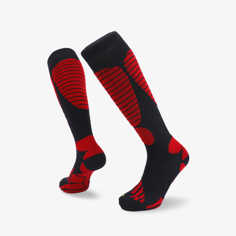 144N 长筒黑红滑雪袜