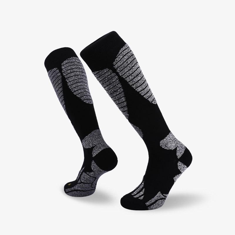 144N 长筒黑灰滑雪袜