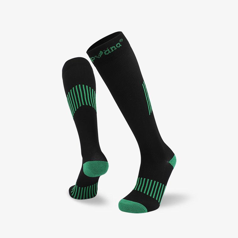 144N 长筒黑绿滑雪袜