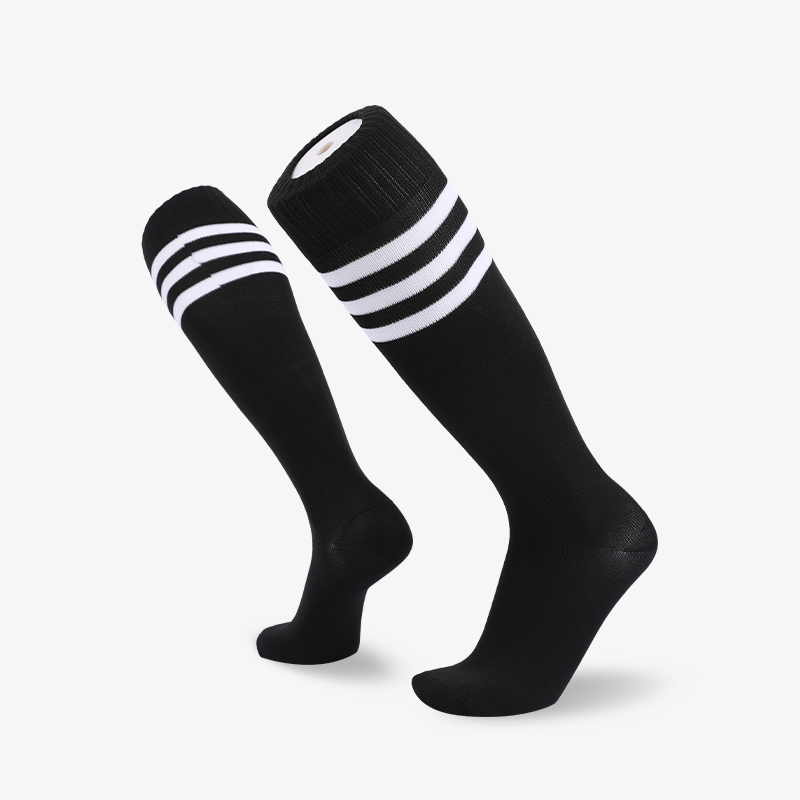 144N 长筒运动黑袜