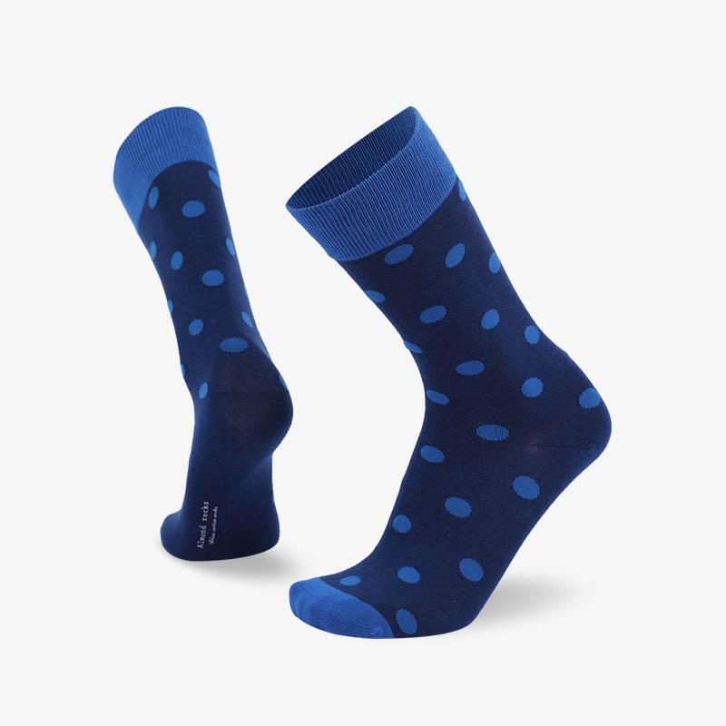 200N 蓝色小圆点普通袜