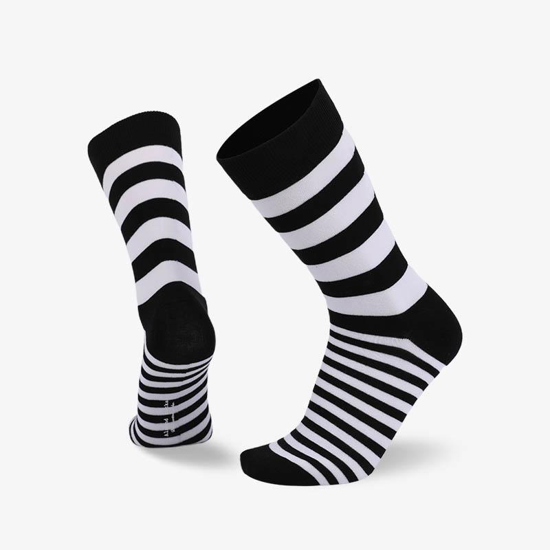 200N 黑白条纹普通袜
