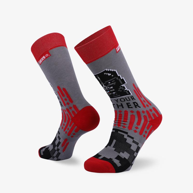 200N 红灰长筒袜普通袜