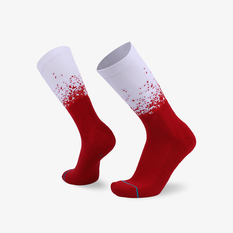 200N 红白色普通袜