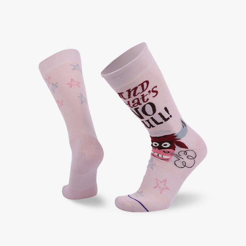 200N 粉色牛头普通袜