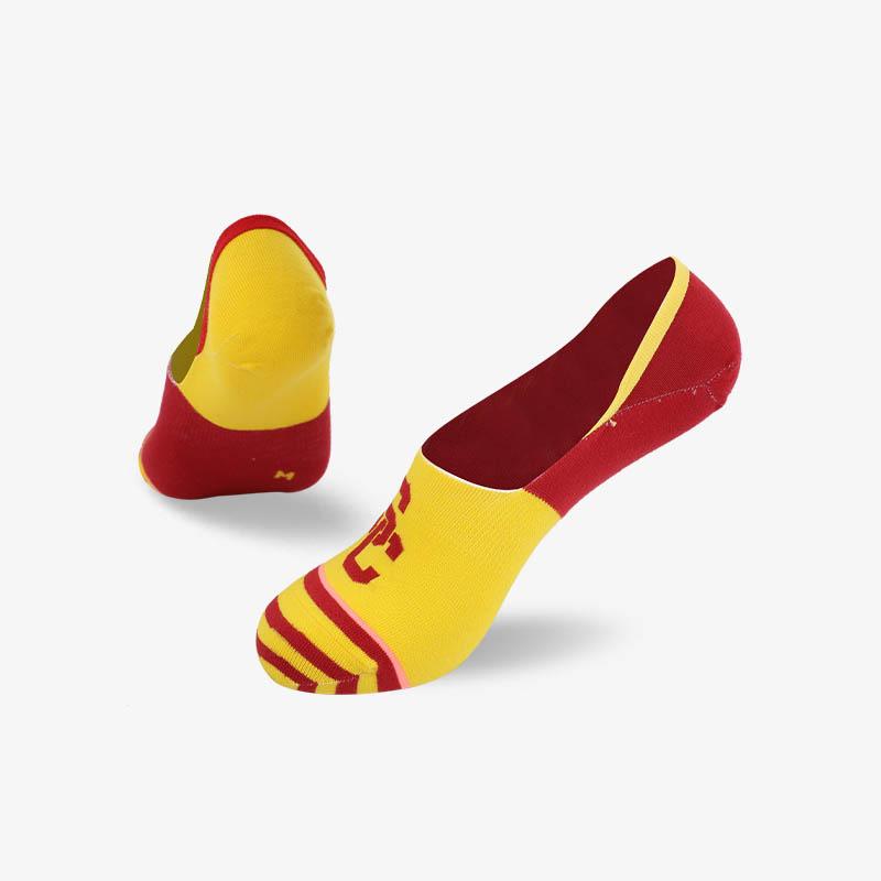 200N 红黄色隐形袜系列