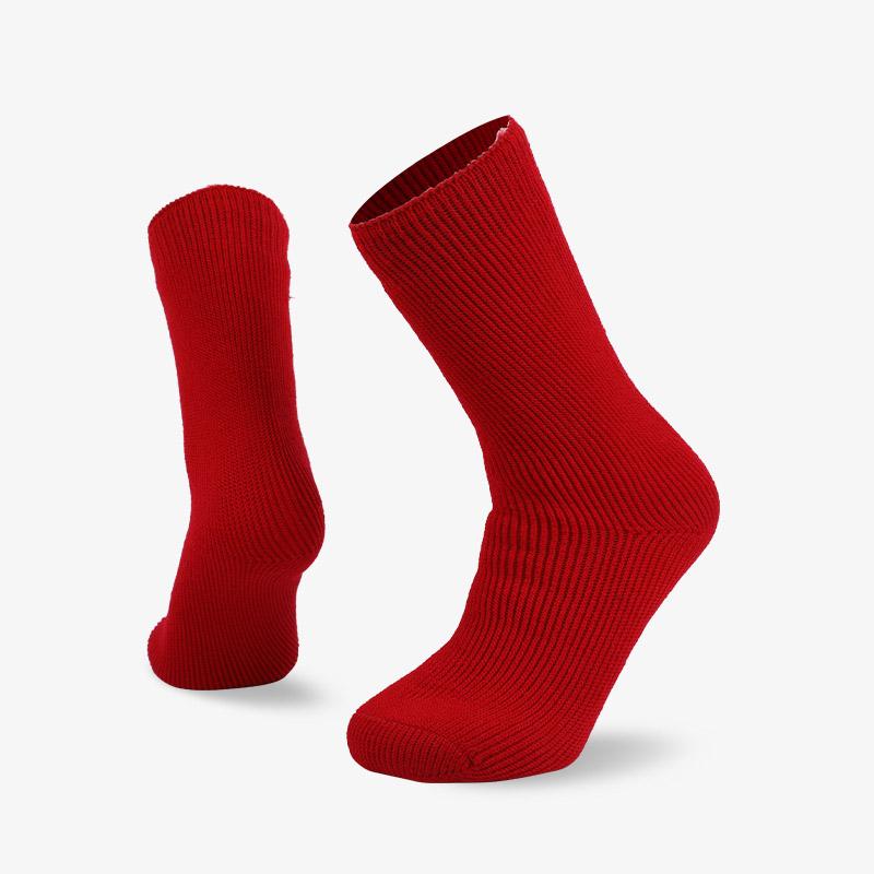 72N 红色家居保暖拉绒袜