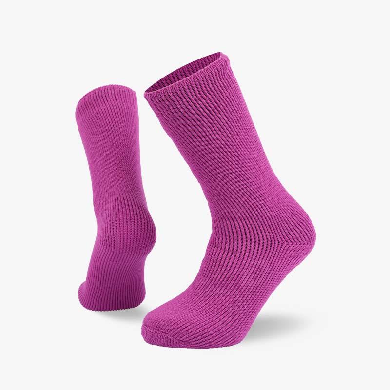 72N 紫粉色家居保暖拉绒袜