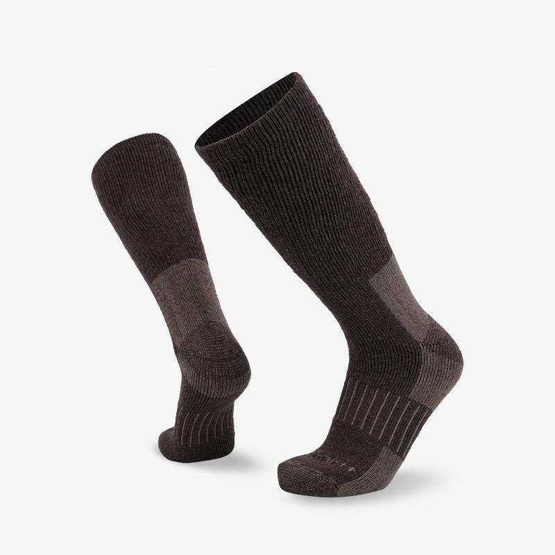 84N 棕灰色长筒登山袜