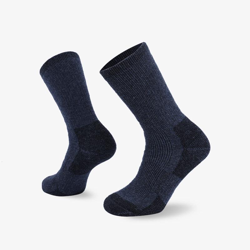 84N 墨蓝色长筒登山袜